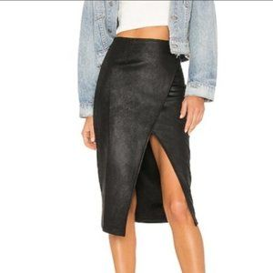 Free People Whitney Vegan Leather Pencil Skirt XS